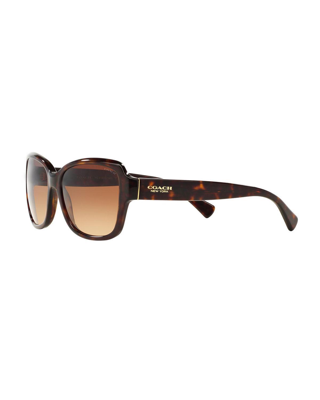 a8452b36d84 COACH - Brown Butterfly Acetate Sunglasses - Lyst. View fullscreen