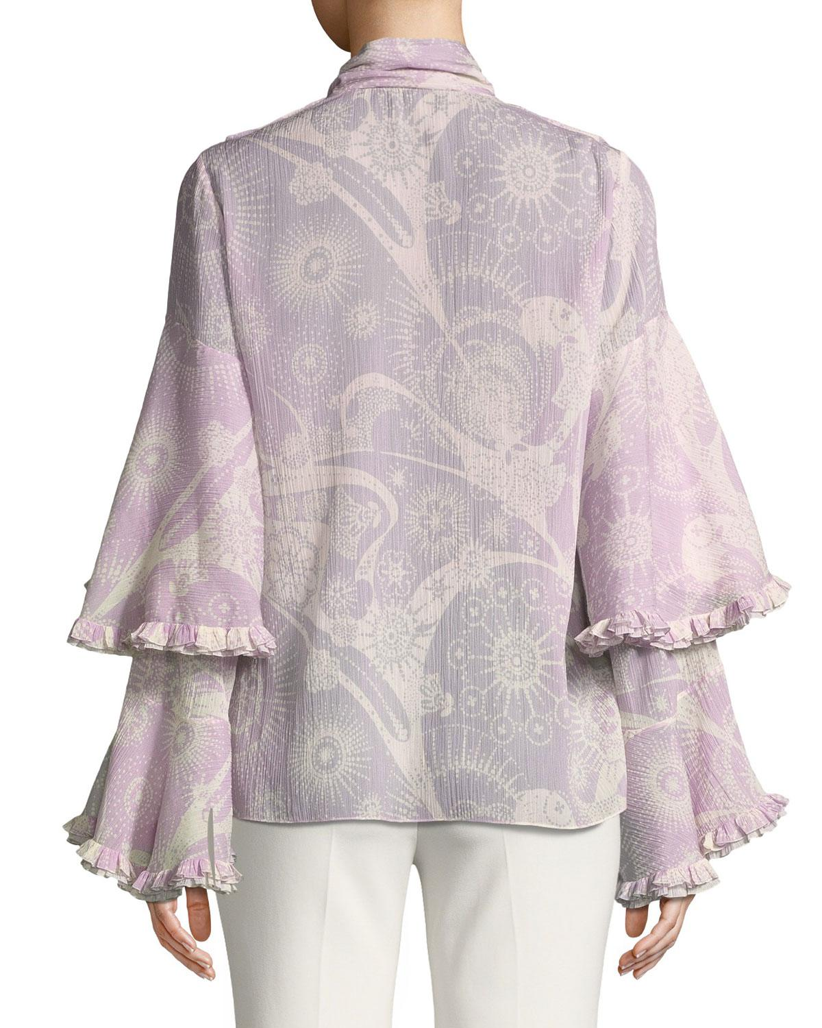 ruffle sleeved blouse - Pink & Purple Chloé Outlet Footlocker 8QWTyoZsQ
