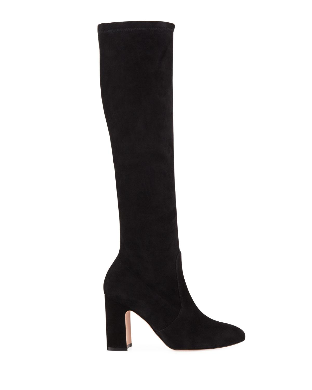 930e8e0f4066 Lyst - Stuart Weitzman Milla Over-the-knee Suede Boots in Black