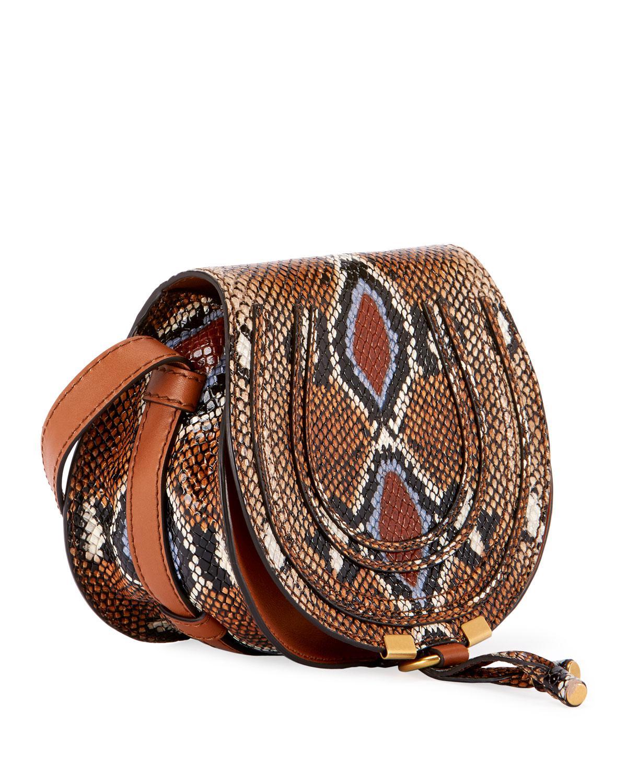 29b72d7ef98 Lyst - Chloé Marcie Small Leather Crossbody Bag in Brown