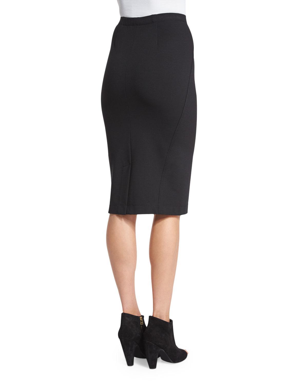 1a723f715b4d70 Lyst - Donna Karan Pull-on Knit Pencil Skirt in Black