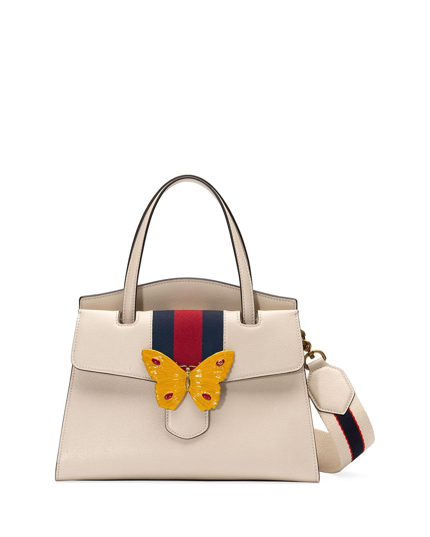 Lyst - Gucci Linea Totem Medium Top Handle Bag 4518fed2ce6
