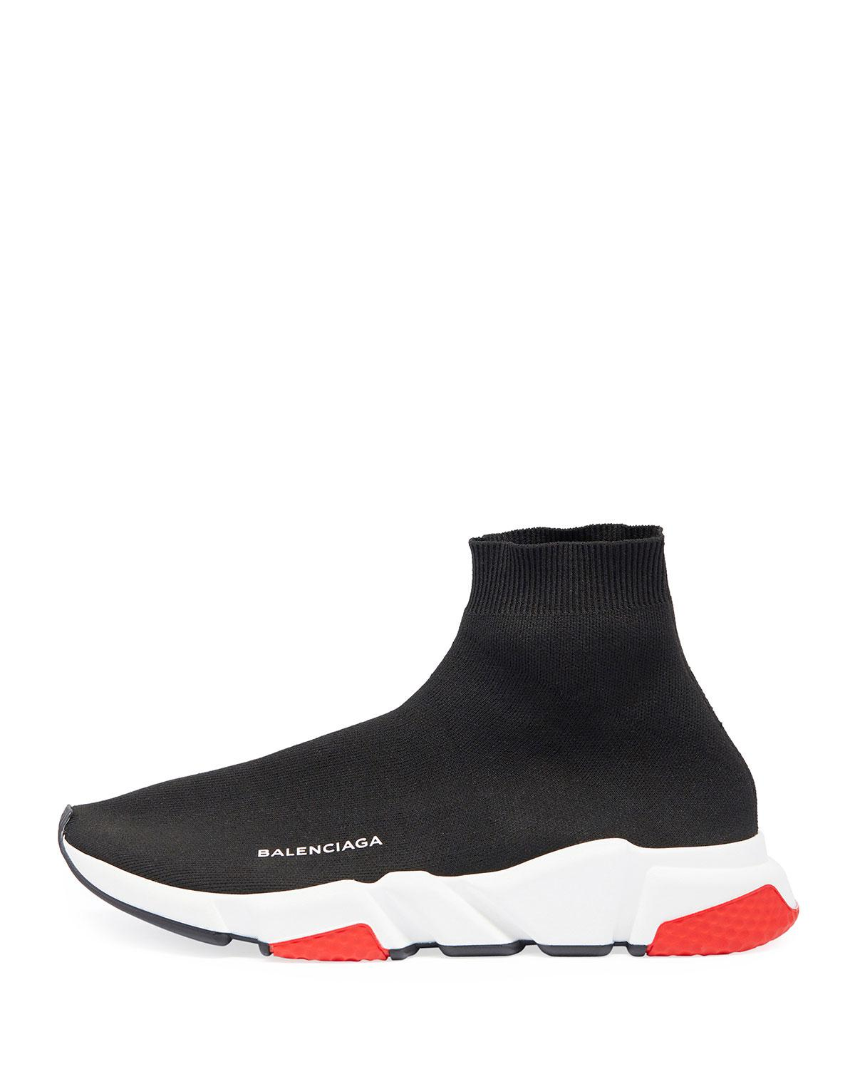 85758cb89b80 Lyst - Balenciaga Men s Speed Mid-top Trainer Sock Sneakers in Black for  Men - Save 4%