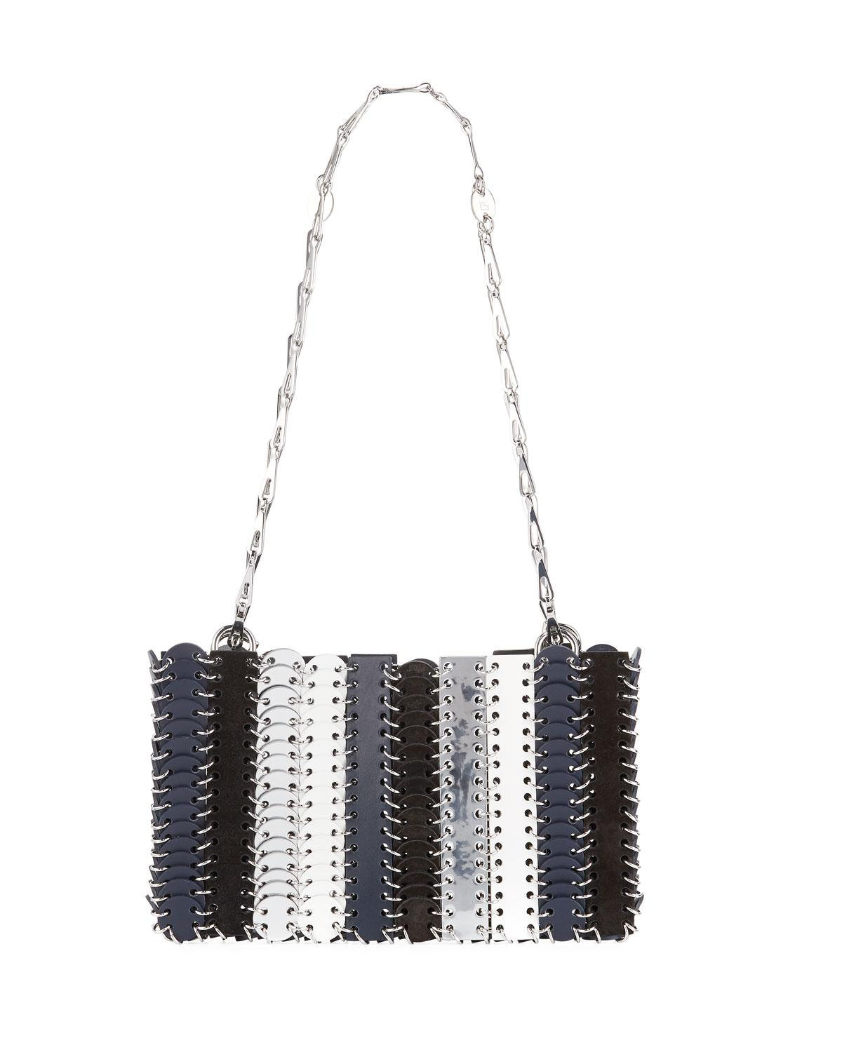 Rabanne Paco In Iconic Blue Shoulder Lyst Chain Bag aOvTnqw4