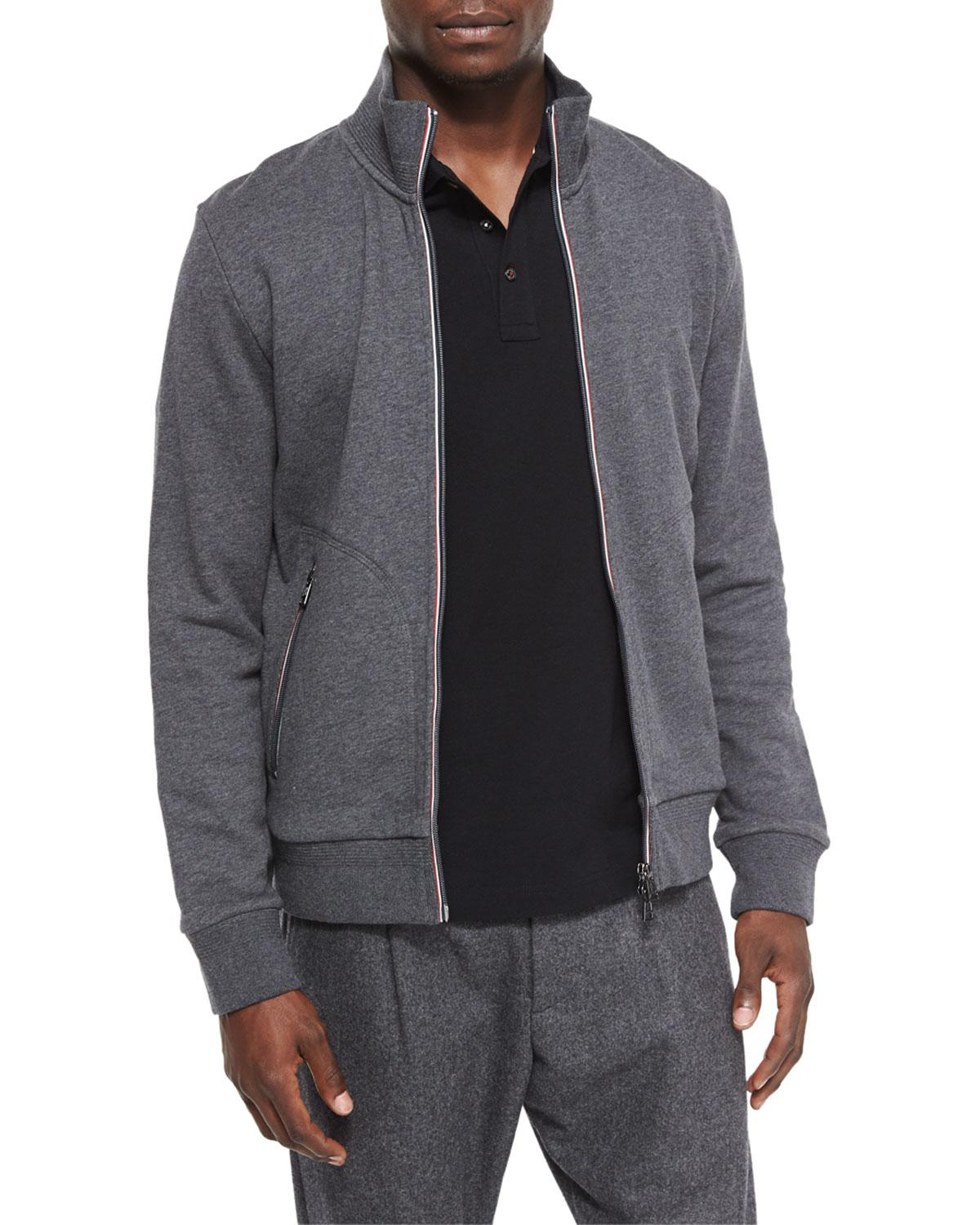 435228a4ff34 Lyst - Moncler Full-zip Track Jacket in Gray for Men