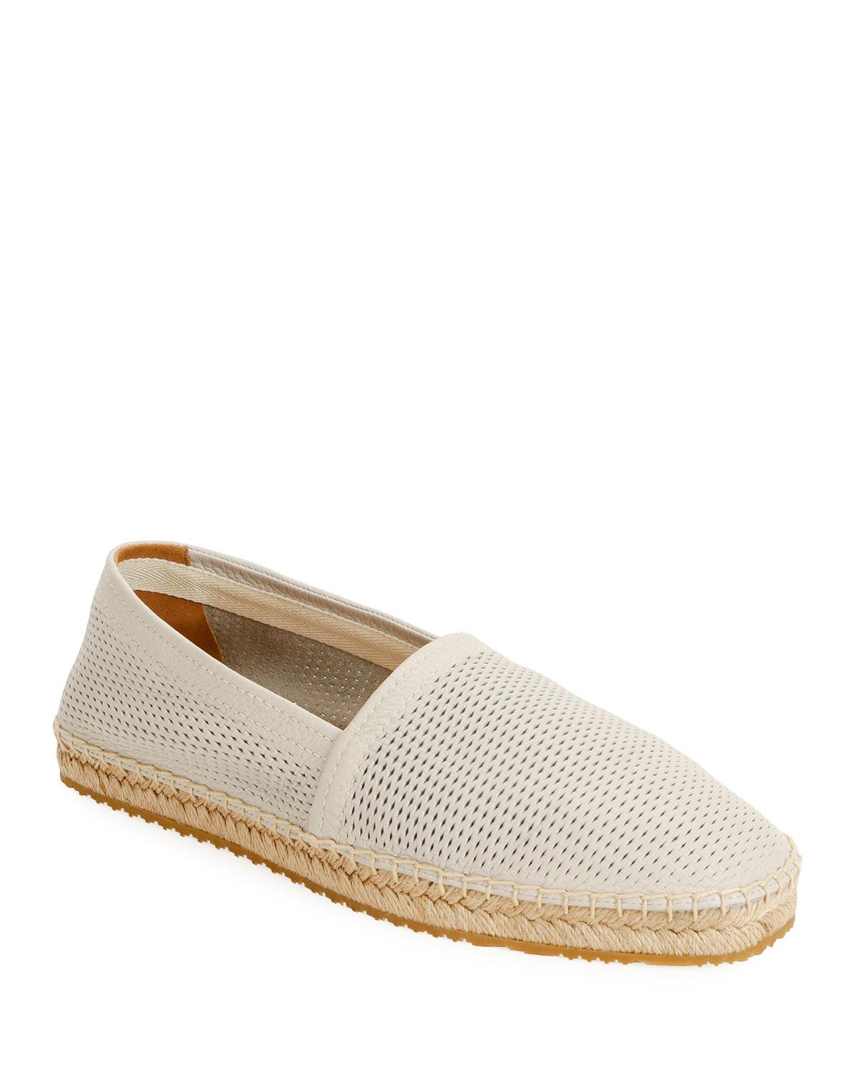 a608e37f6dd2ce Lyst - Giorgio Armani Men s Perforated Mesh Espadrille in White for Men