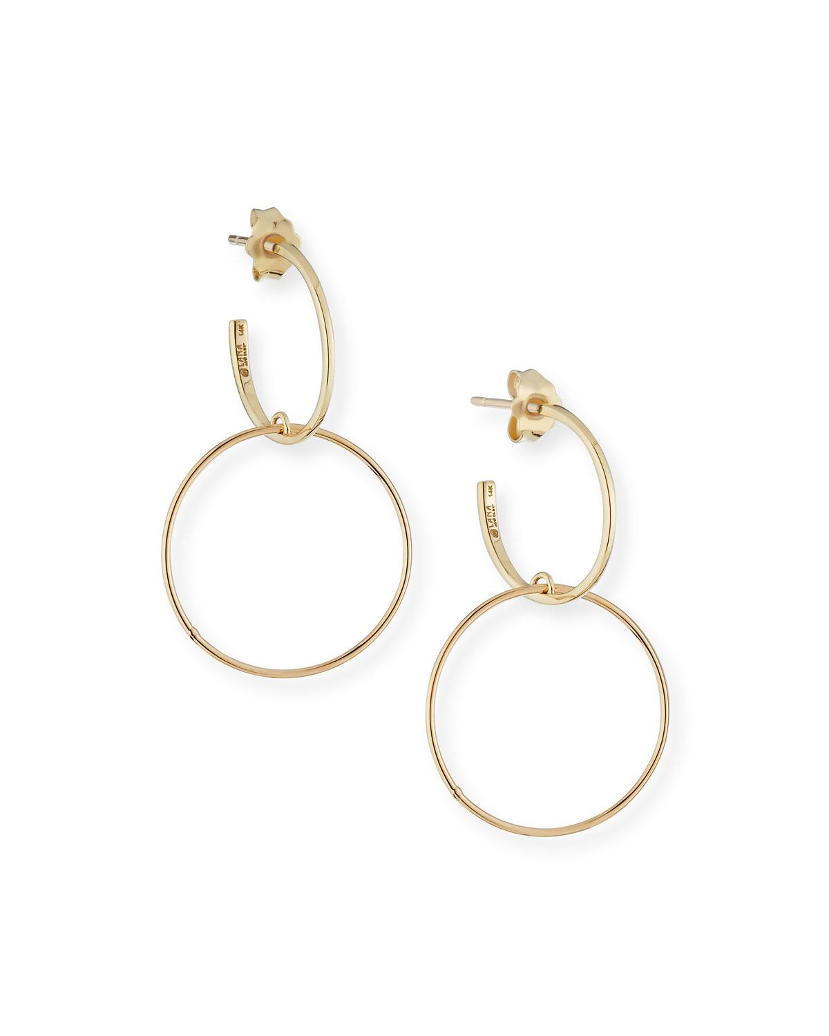 Lana Jewelry Fifteen 14k Double-Hoop Earrings G2re47ujqd