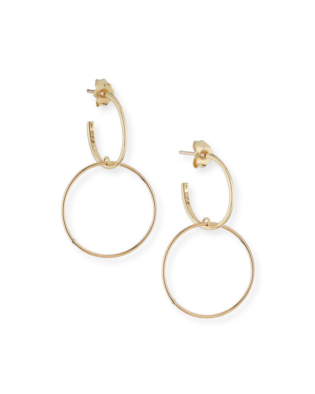 Lana Jewelry Bond Double-Drop Hoop Earrings 2GV4S