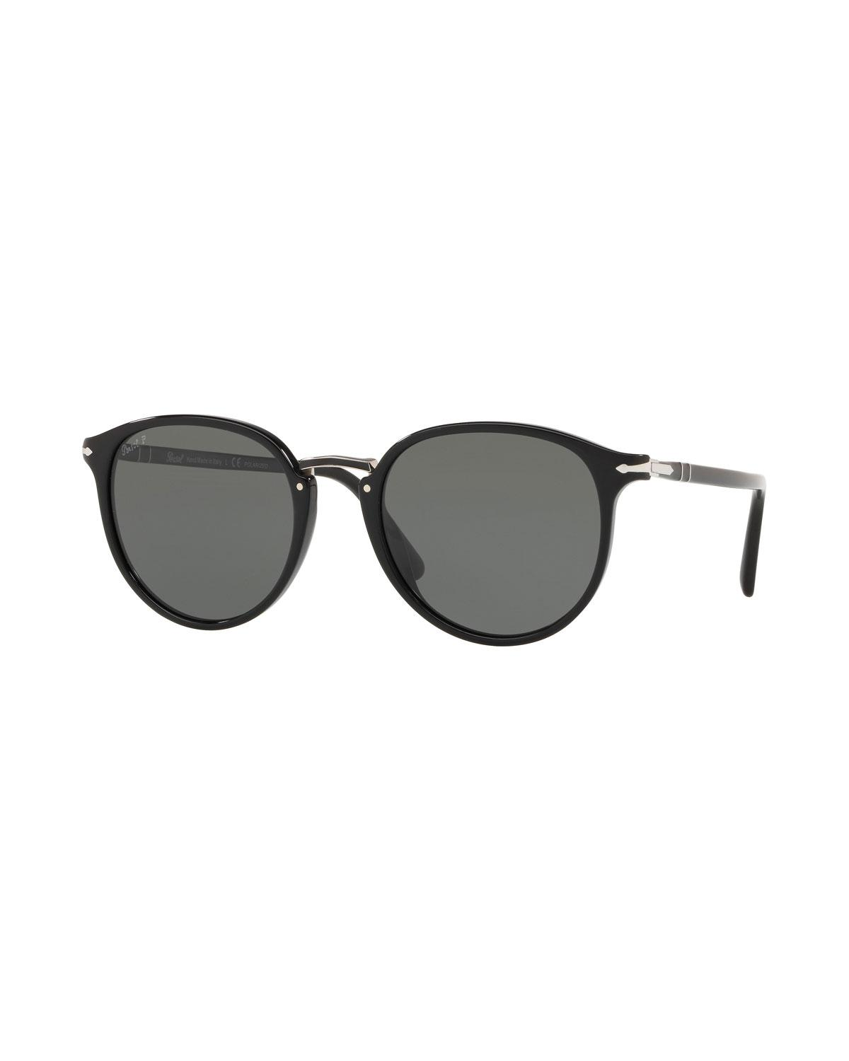 8f8cce80bc Lyst - Persol Men s Po3210s Oval Acetate Keyhole Sunglasses ...