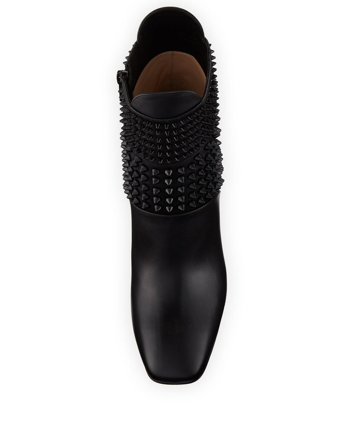b4119c169eb Lyst - Christian Louboutin Praguoise Studded Leather Ankle Boots in ...