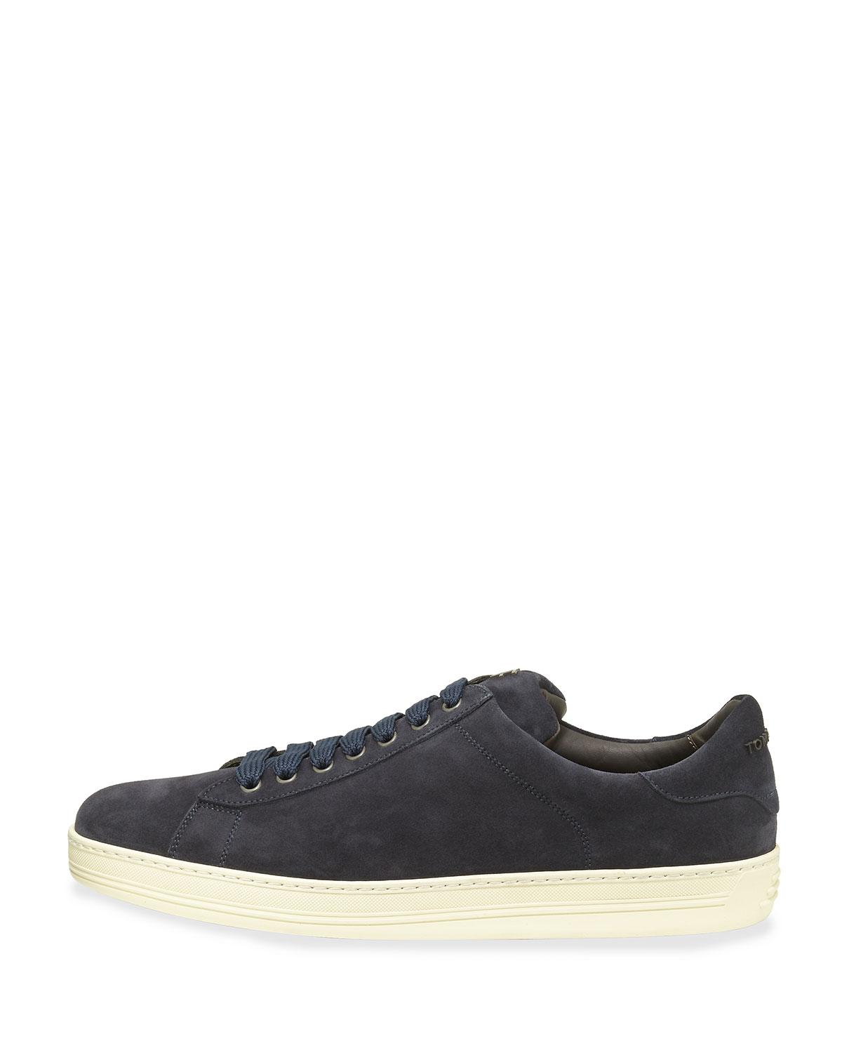 Sneaker smooth leather Hole pattern Logo brown Tom Ford FfWyA