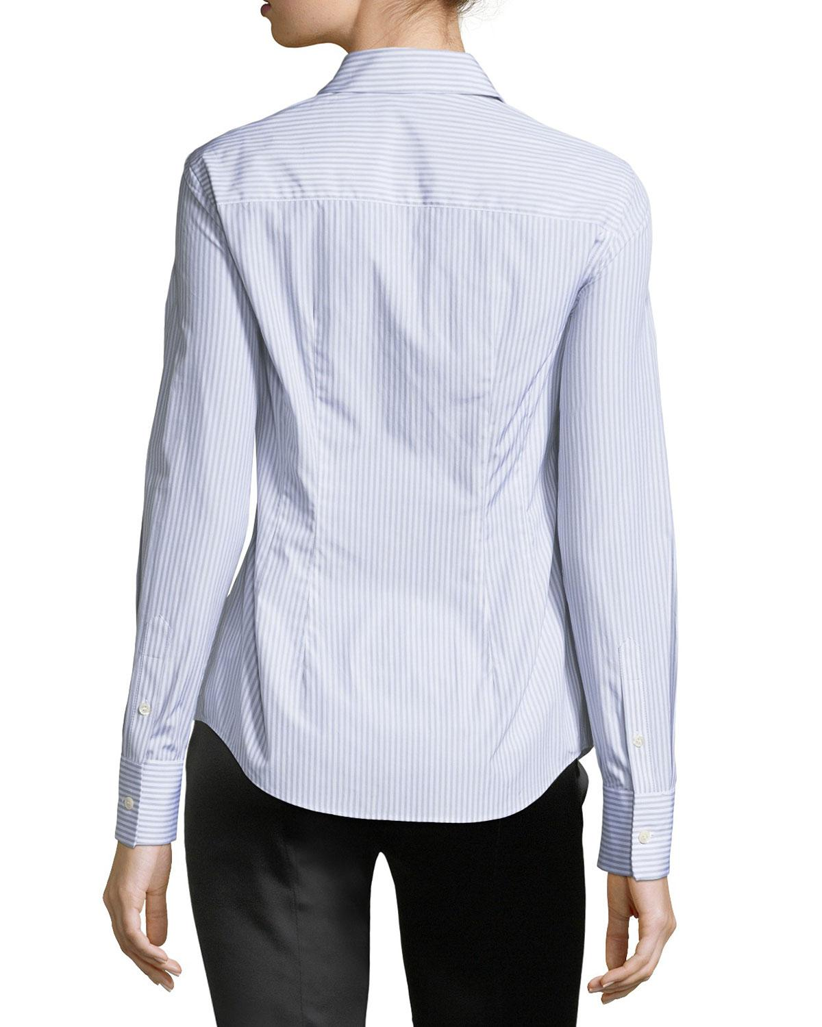 Huge Surprise Sale Huge Surprise Rebecca Minkoff Stripe-Accented Silk Top Sale With Mastercard MwhEs