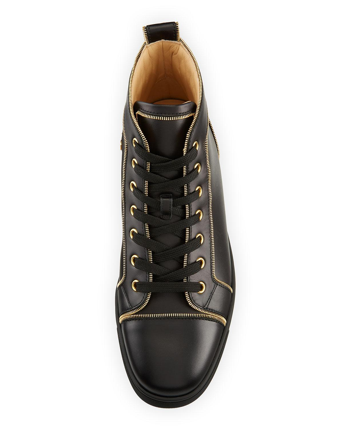 dc7e7ee01943 Lyst - Christian Louboutin Louis Z Men s Zip-trim Leather High-top Sneakers  in Black for Men