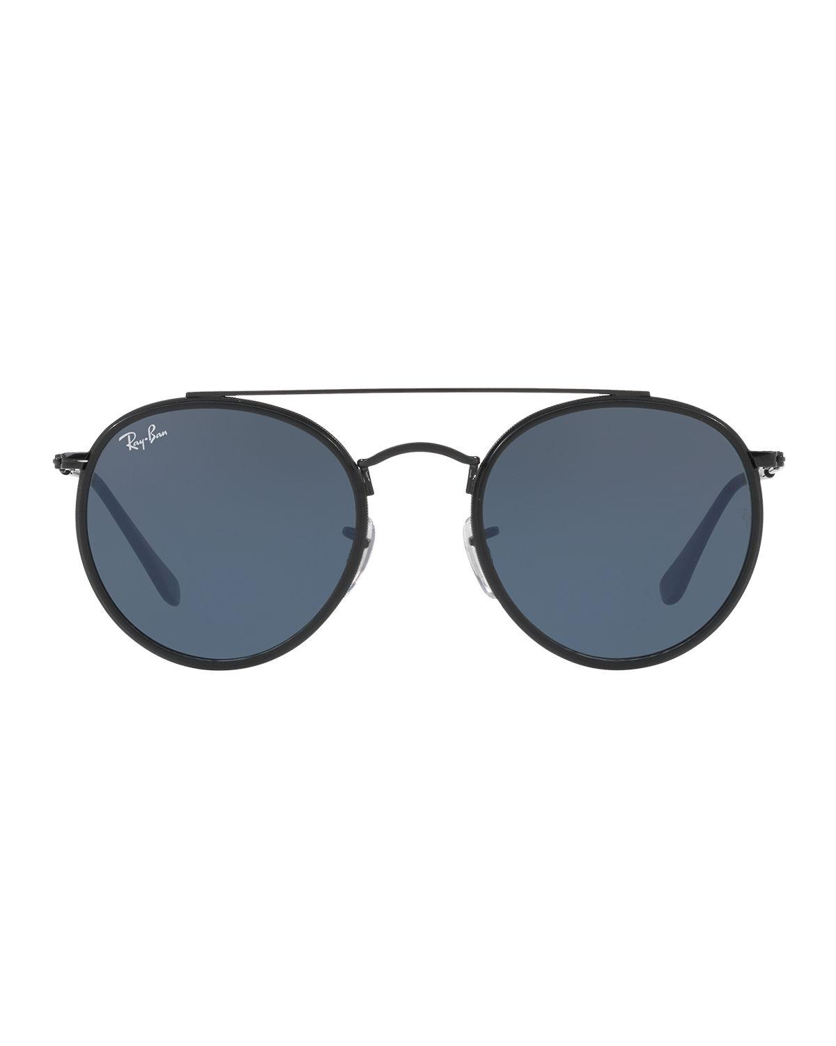 41b3c8eccf6 Lyst - Ray-Ban Men s Rb3647 Round Double-bridge Sunglasses in Black for Men  - Save 2%