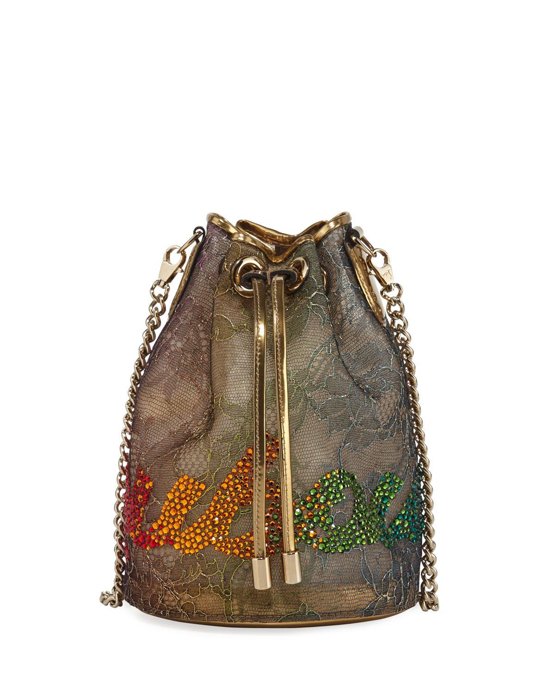 6c3455c6590 Christian Louboutin. Women s Marie Jane Lace Bucket Bag