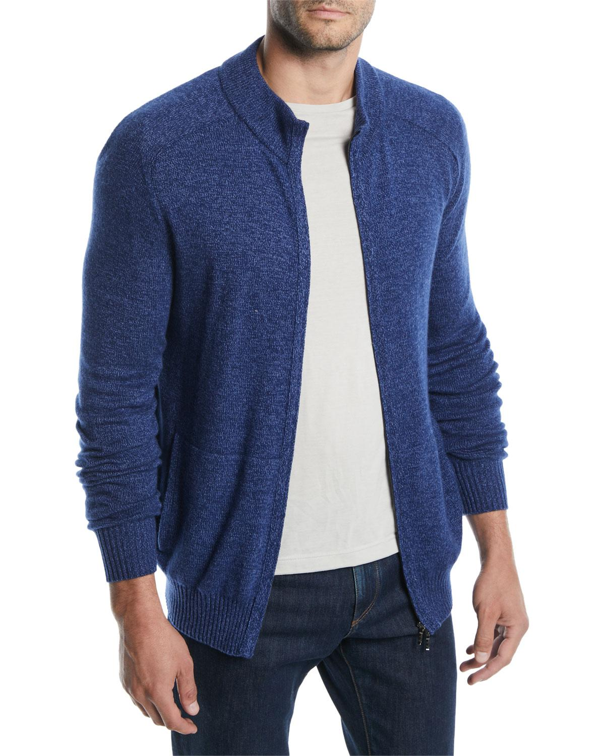 3a73ba08c Lyst - Loro Piana Men s Bantiger Cashmere-silk Bomber Sweater in Red ...