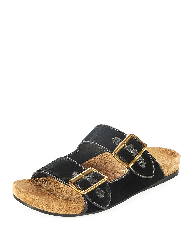 98d8cbc1 Lyst - Prada Velvet Two-strap Slide Sandals in Black for Men