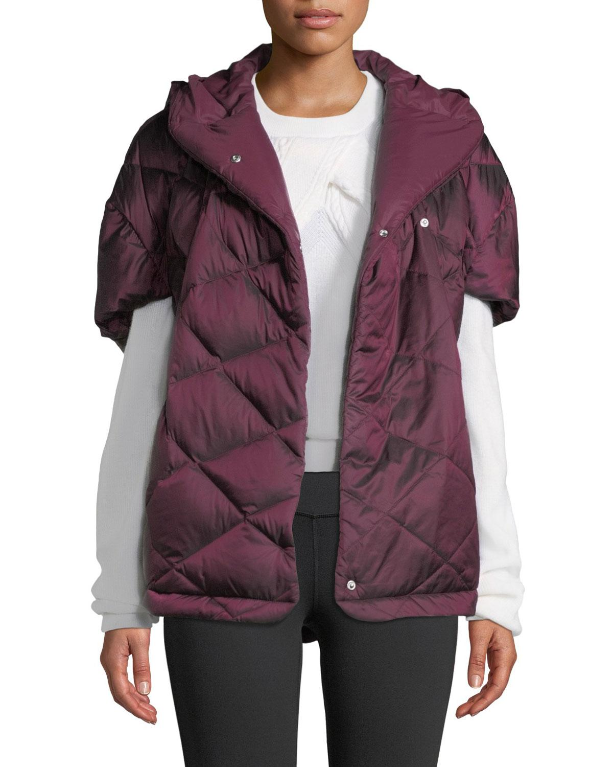 0b03946b8e83 Lyst - The North Face Far Northern Down Capelet W  Hood in Purple