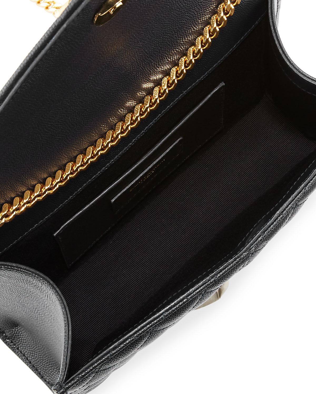 Saint Laurent Monogram Ysl Envelope Small Chain Shoulder Bag - Golden  Hardware in Black - Lyst e22f30e0c18d8