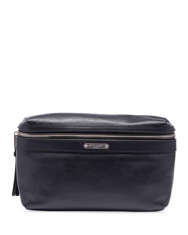 e16c70b946 Lyst - Saint Laurent Men s Ysl Marsupio Leather Belt Bag in Black ...