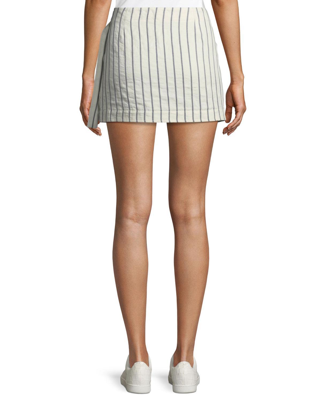 ff3753d1d7 Lyst - Theory Wrap-tie Skirt In Split Stripes in Blue
