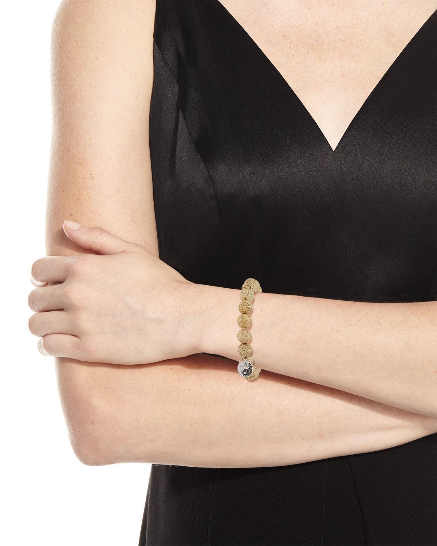 Sydney Evan Lotus Seed Beaded Bracelet w/ 14k Diamond Yin Yang Charm 9n3lF