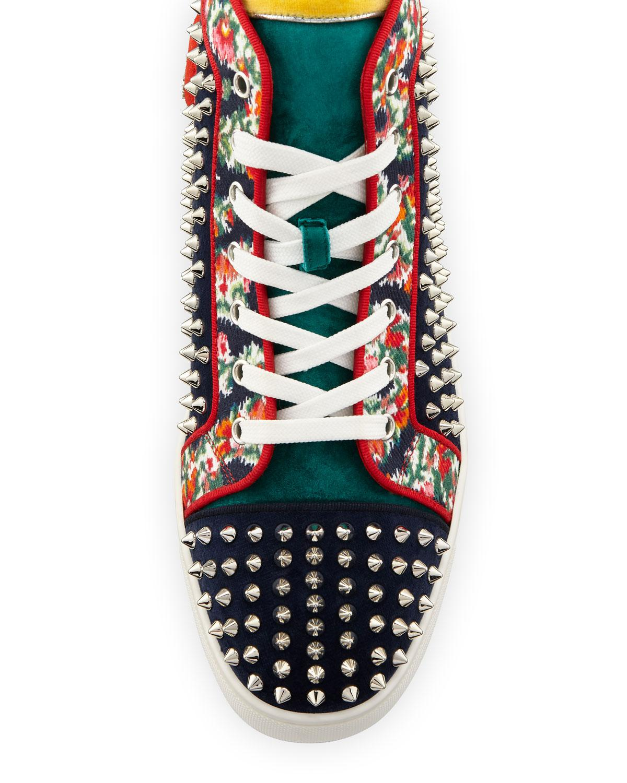 d06049f2e1e Lyst - Christian Louboutin Louis Orlato Studded High-top Sneaker in Blue