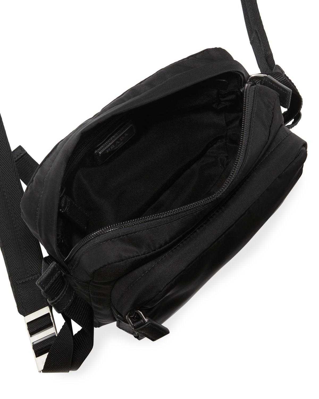 aabeafa47c00 Prada Men's Nylon Crossbody Bag in Black for Men - Lyst