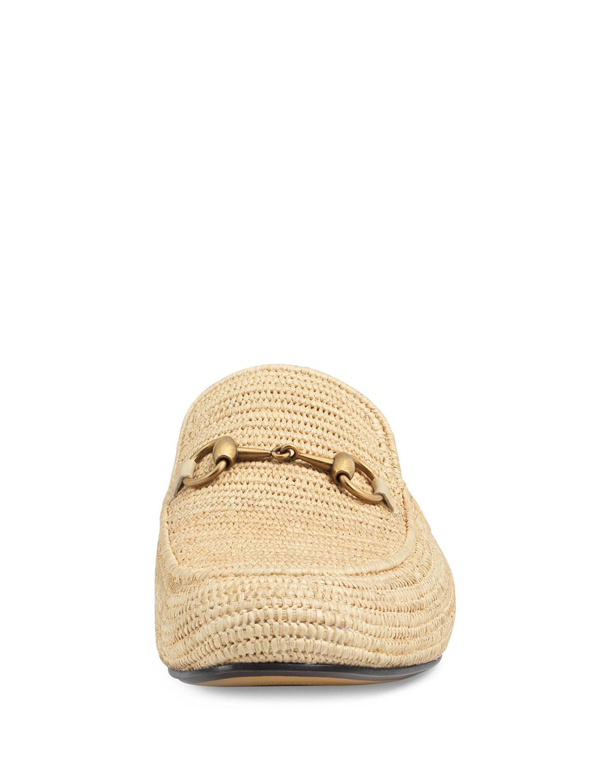 a2f06ec316f Lyst - Gucci Straw Princetown Slipper in Natural for Men - Save 60%
