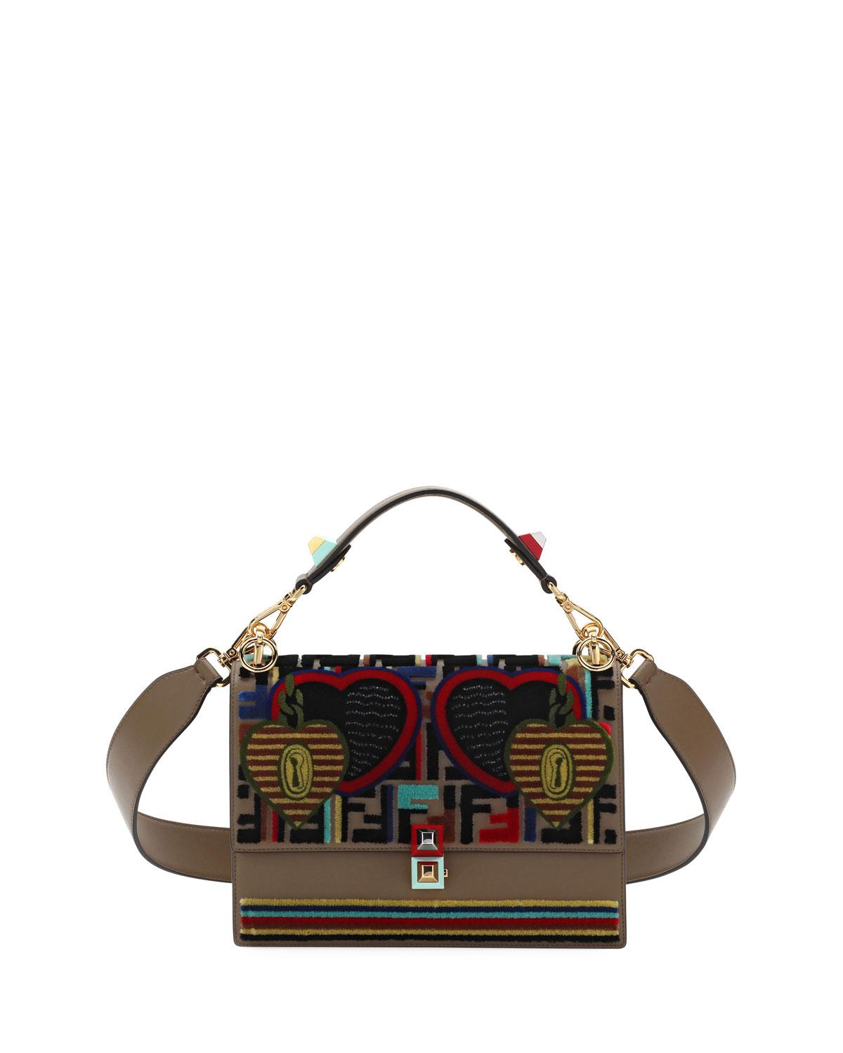 a7d4fc6d61e3 Fendi Embroidery Tappetino Kan I Shoulder Bag in Brown - Lyst