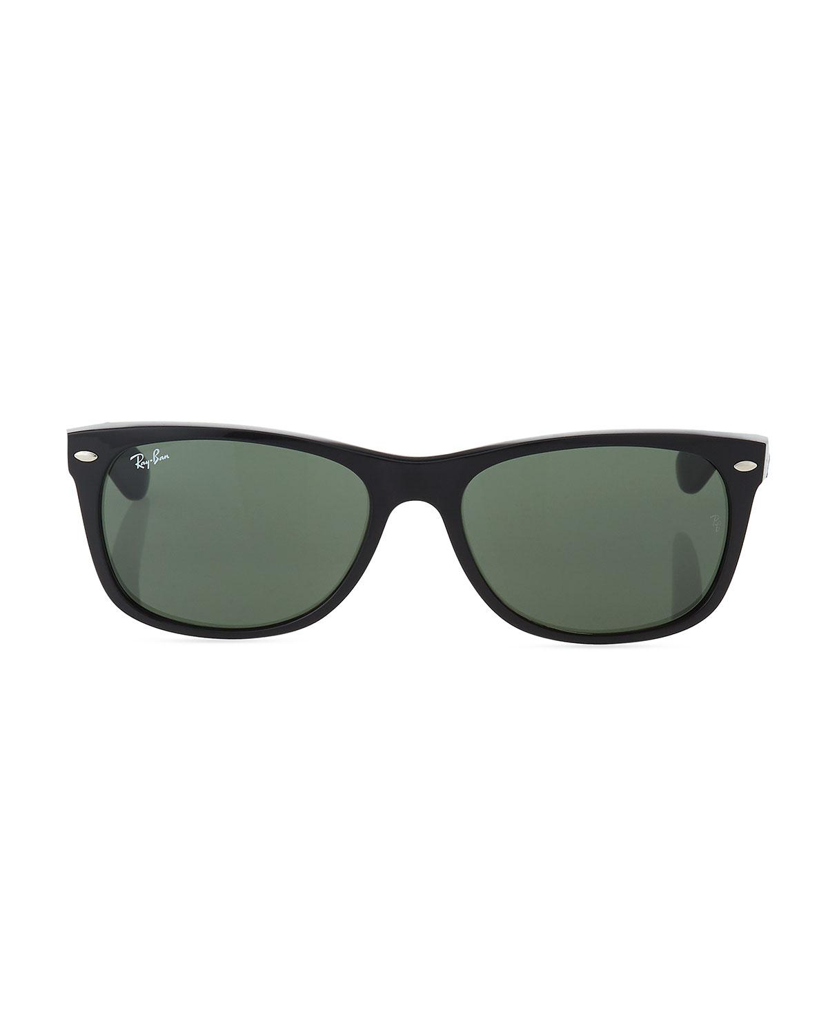 4155c38f7a Lyst - Ray-Ban Men s New Wayfarer 58mm Flat-top Plastic Sunglasses in Green  for Men - Save 2%