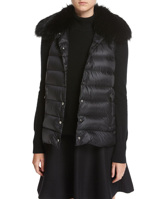 6e4be55b9 cheapest moncler fur hooded long puffer coat paint jacket 6b744 03a3d