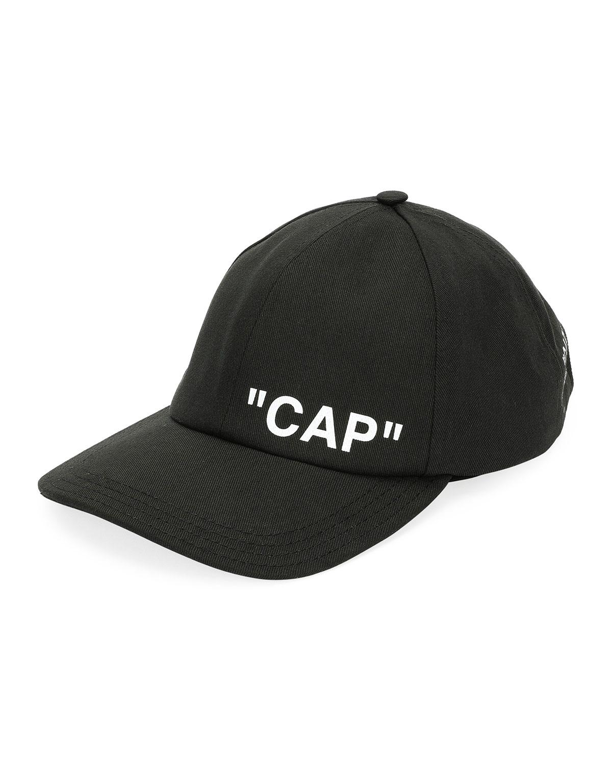 564118d70d1 Off-White C O Virgil Abloh Quote Baseball Cap in Black for Men ...
