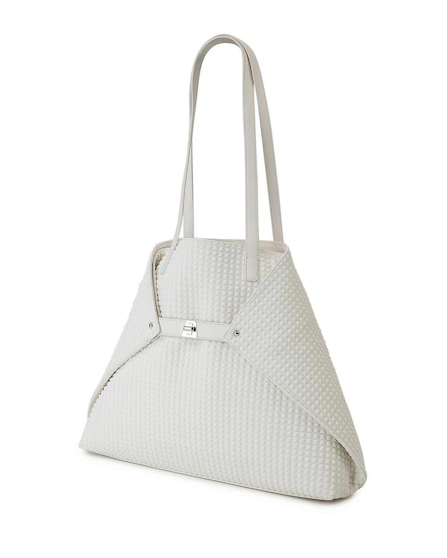 Lyst - Akris Ai Medium Techno Fabric Shoulder Bag in White 68e1241e76