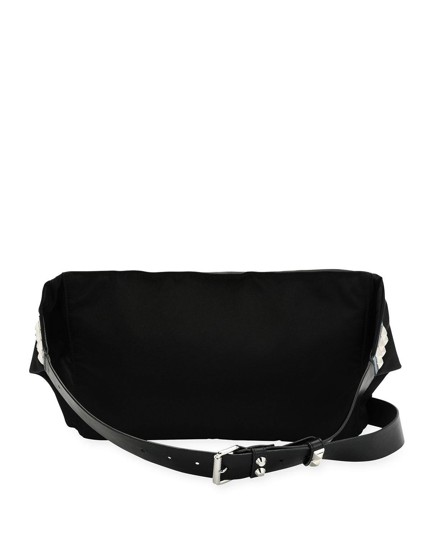 43dee7ab5fdd Lyst - Prada Vela Nylon Square Belt Bag in Black