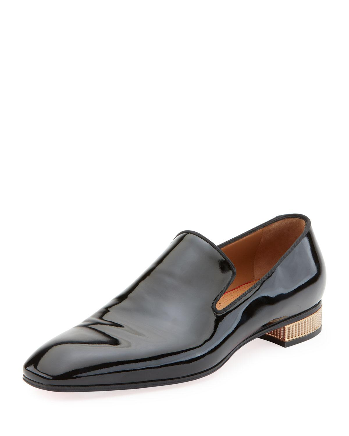 25ed12635bf Lyst - Christian Louboutin Men s Colonnaki Patent Leather Loafer in ...