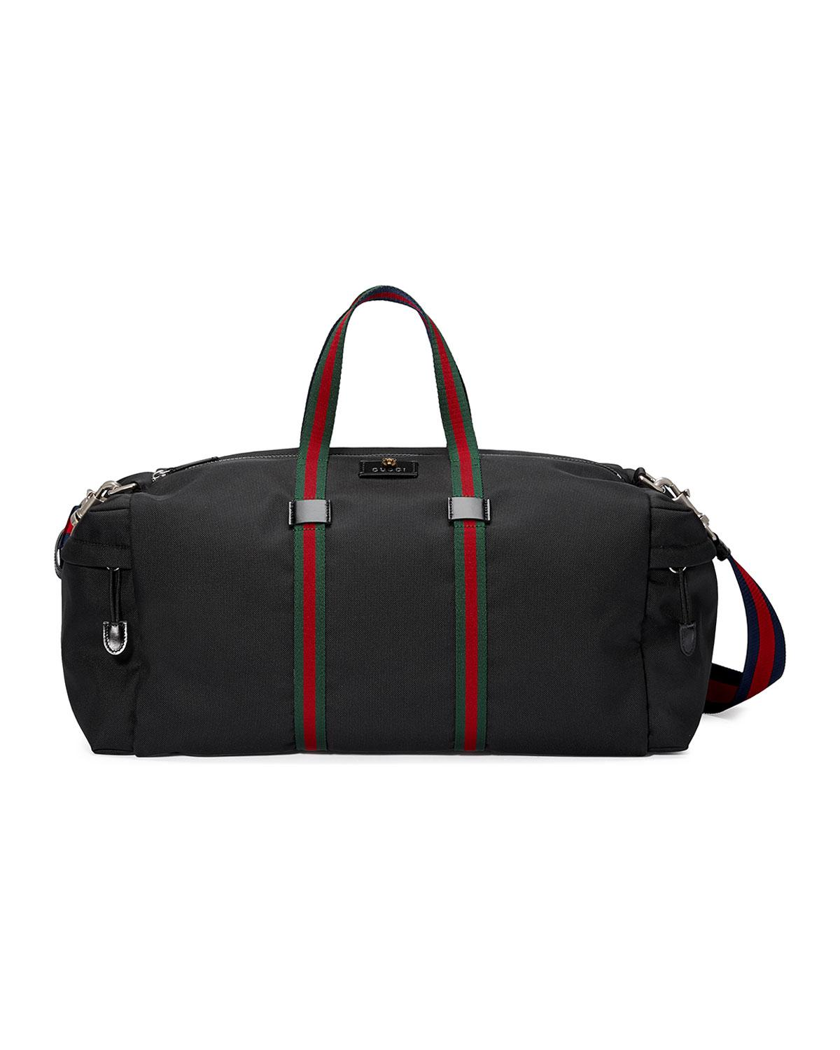 e7c7043461a7 Lyst - Gucci Technical Canvas Duffle Bag in Black for Men