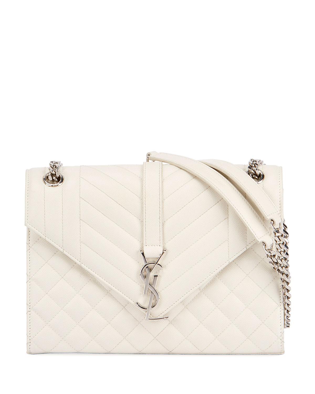 Lyst - Saint Laurent V Flap Monogram Medium Envelope Shoulder Bag W ... 08543179afc58