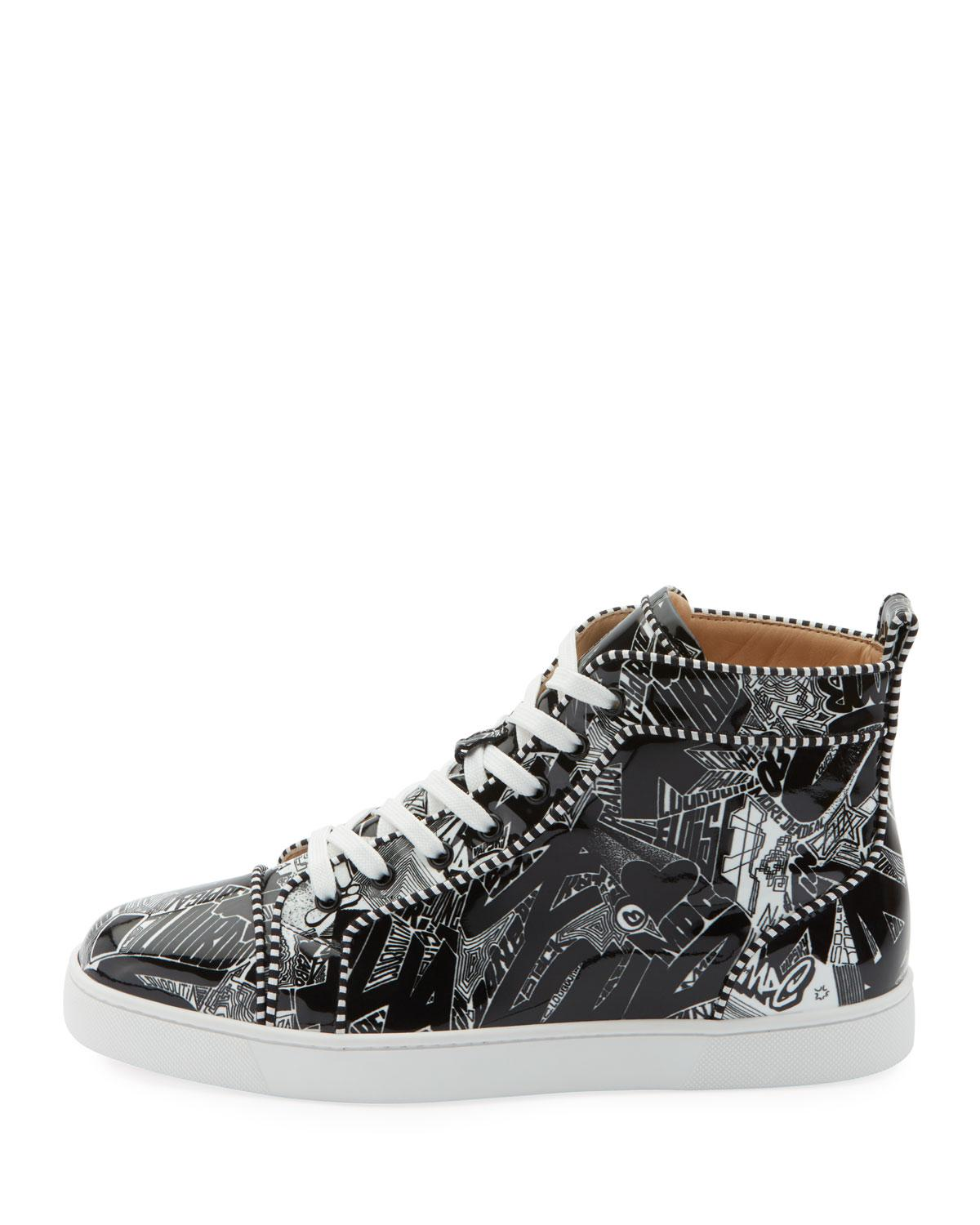 0d026d6e95d9 Lyst - Christian Louboutin Men s Louis Orlato Graffiti High-top Sneakers in  Black for Men