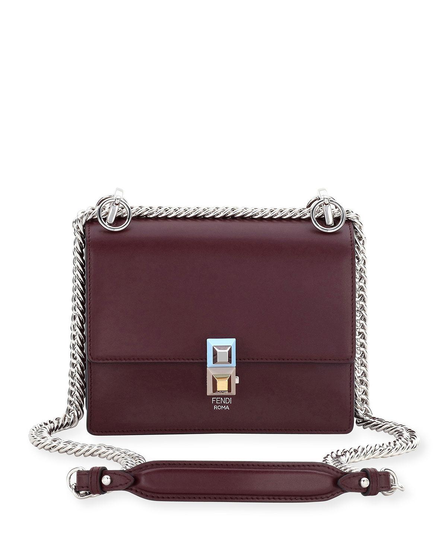 Lyst - Fendi Kan I Mini Scallop Studded Shoulder Bag in Red 58904cc189ac5