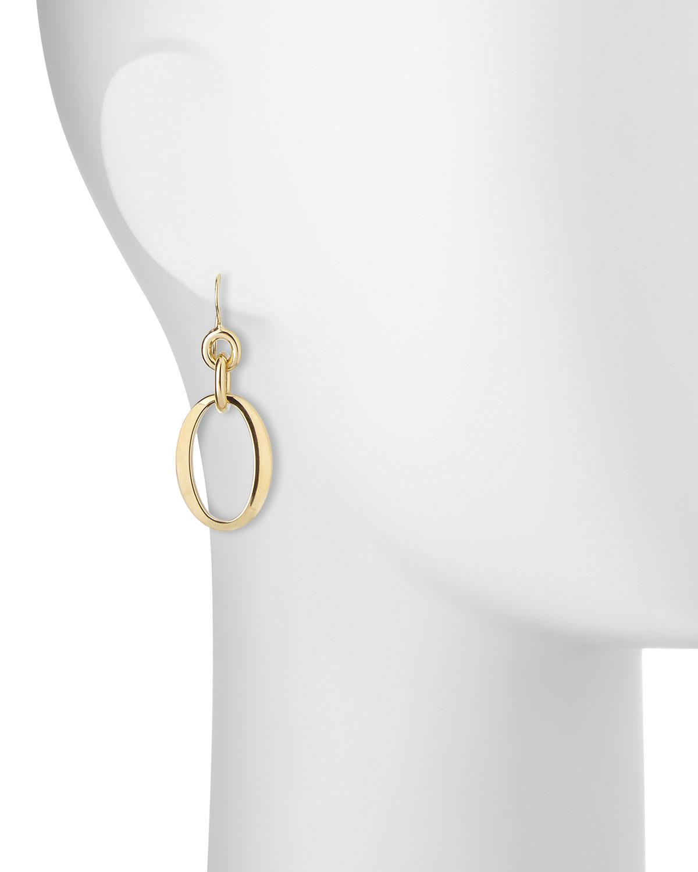 Ippolita 18k Glamazon Short Oval Link Earrings 8cNuE8WrK