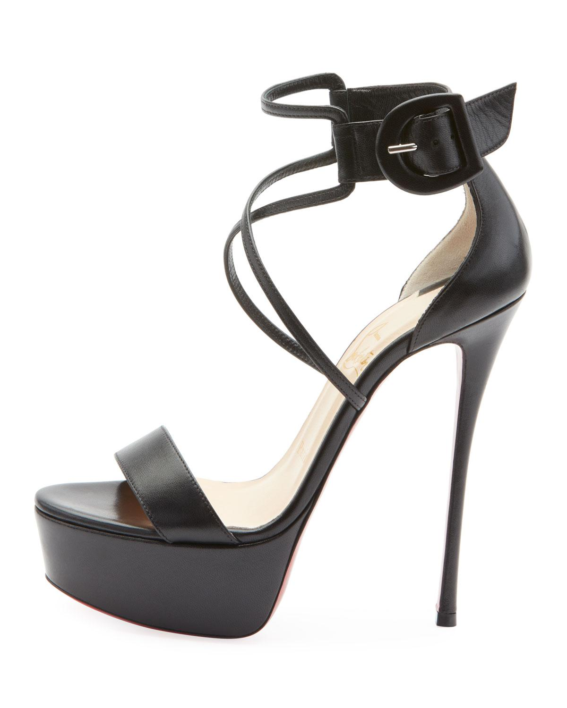 c59a3060a7f Lyst - Christian Louboutin Choca Platform Sandal in Black