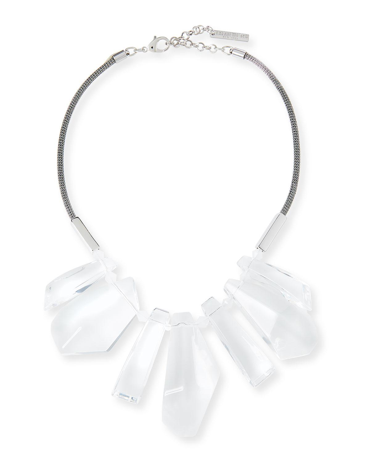 Lafayette 148 New York Sculpted Leaf Statement Necklace QWV69