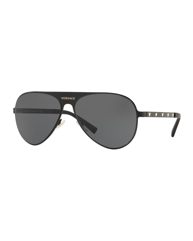 f22bd7ca3af6 Versace - Black Men s Medusa Head Aviator Sunglasses for Men - Lyst. View  fullscreen