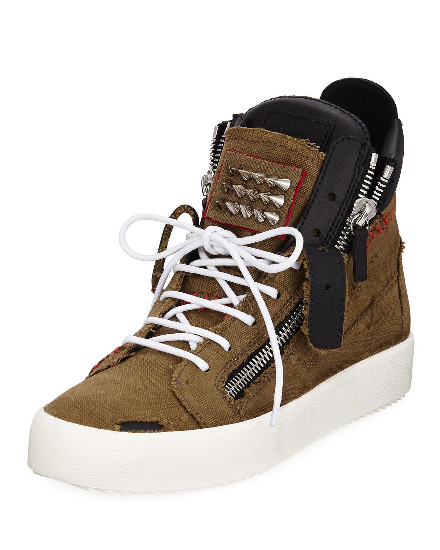 ec885fa2f09c2 Lyst - Giuseppe Zanotti Men s Chaos Studded High-top Sneakers in ...
