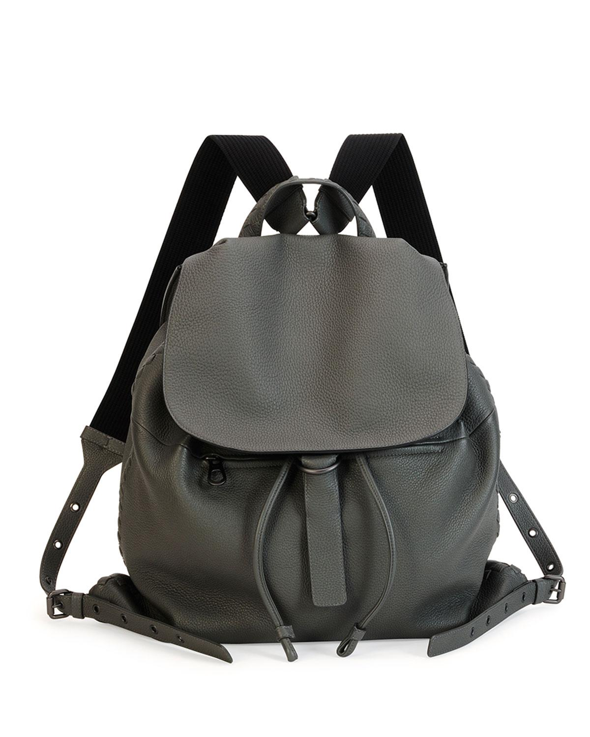 201bb2172d Lyst - Bottega Veneta Black Woven Backpack in Black for Men