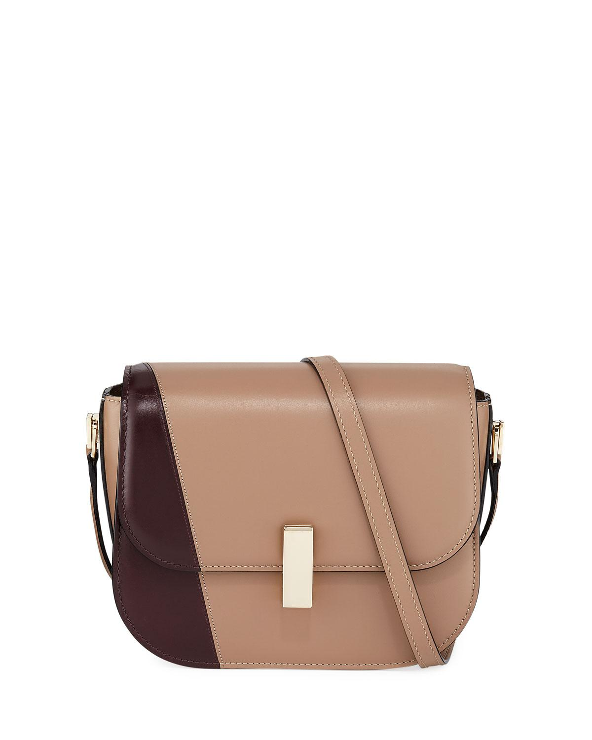 9f7db0a433 Lyst - Valextra Iside Colorblock Leather Crossbody Bag in Brown