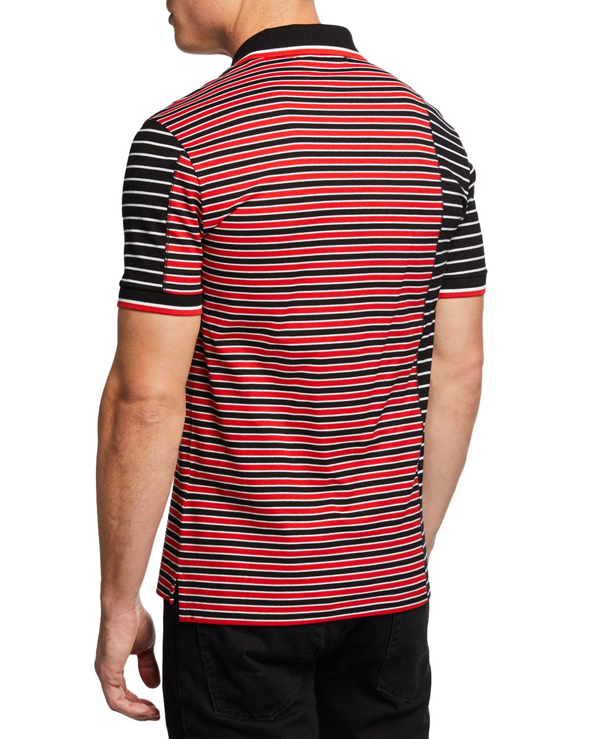 0ff934074 Givenchy Men s Asymmetrical-stripes Slim-fit Polo Shirt in Red for Men -  Lyst