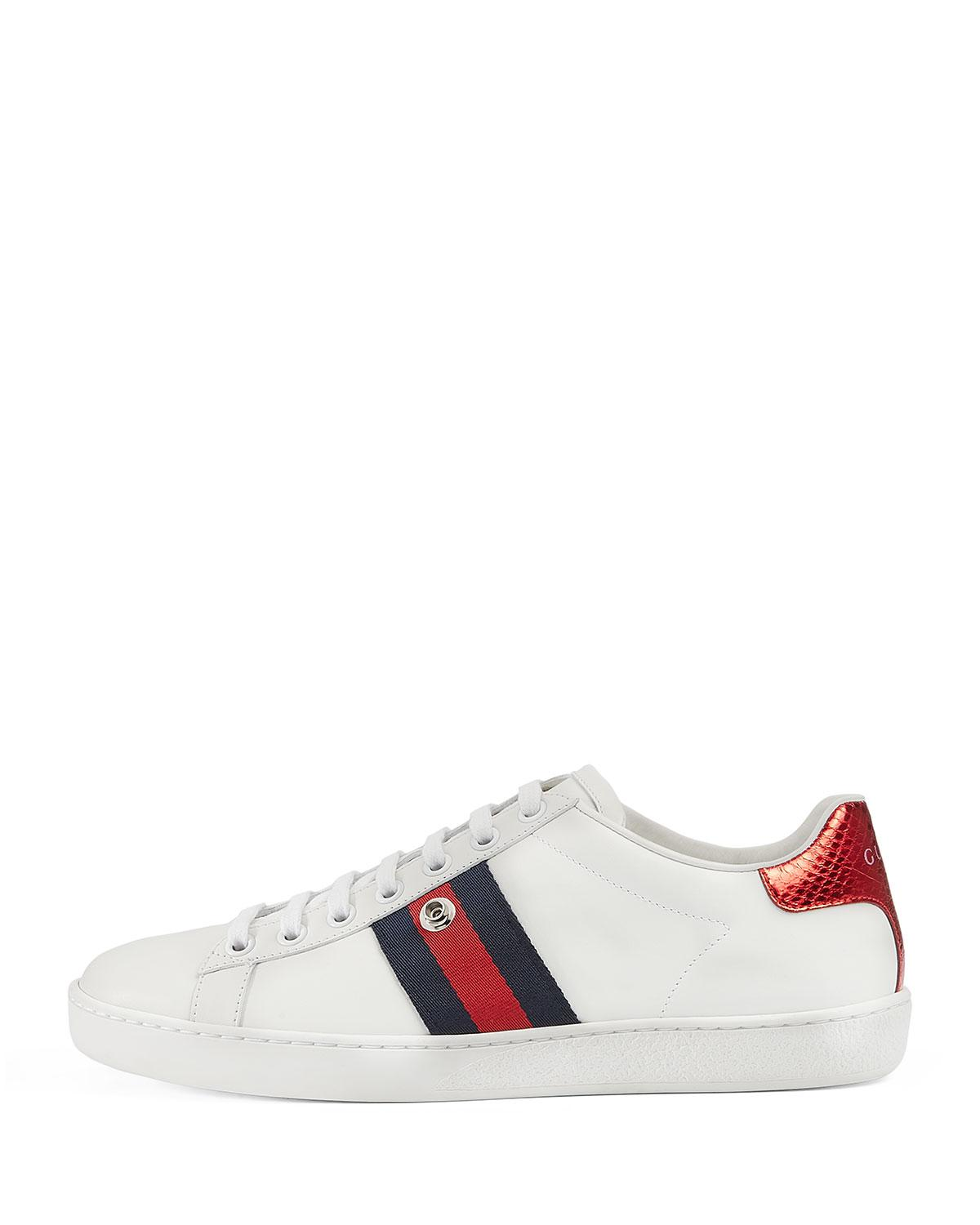 54373e2d4 Gucci New Ace Panther Low-top Sneakers in White for Men - Lyst