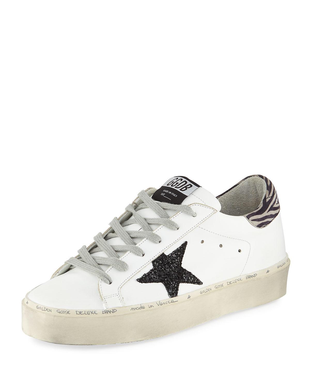8f14711df9f9 Golden Goose Deluxe Brand - White Hi Star Platform Sneakers - Lyst. View  fullscreen